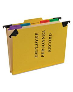 PFXSER2YEL HANGING STYLE PERSONNEL FOLDERS, 1/3-CUT TABS, CENTER POSITION, LETTER SIZE, YELLOW