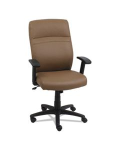ALECA4159 HIGH-BACK SWIVEL/TILT LEATHER CHAIR, SUPPORTS UP TO 275 LBS., TAUPE SEAT/TAUPE BACK, BLACK BASE