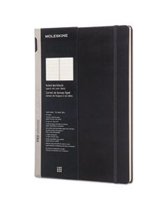 HBGPROPFNTB7HBK PROFESSIONAL NOTEBOOK, MEDIUM/COLLEGE RULE, BLACK COVER, 11.75 X 8.25, 176 SHEETS