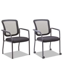 ALEEL4314 MESH GUEST STACKING CHAIR, SUPPORTS UP TO 275 LBS., BLACK SEAT/BLACK BACK, BLACK BASE
