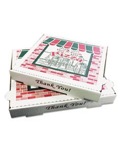 BOXPZCORB10 TAKEOUT CONTAINERS, 10IN PIZZA, WHITE, 10W X 10D X 1 3/4H, 50/CARTON