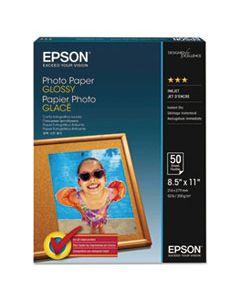 EPSS041271 GLOSSY PHOTO PAPER, 8.5 X 11, GLOSSY WHITE, 100/PACK