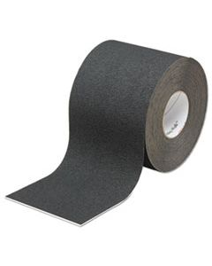 MMM19296 SAFETY-WALK SLIP-RESISTANT MEDIUM RESILIENT TREAD ROLLS, BLACK, 4W X 60FT.