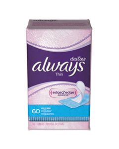 PGC08282 THIN DAILY PANTY LINERS, 60/PACK, 12 PACK/CARTON