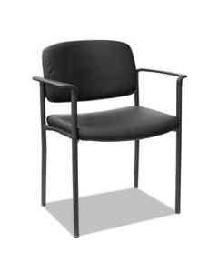 ALEUT6816 ALERA SORRENTO SERIES ULTRA-CUSHIONED STACKING GUEST CHAIR, BLACK SEAT/BLACK BACK, BLACK BASE, 2/CARTON