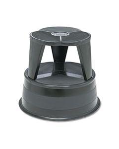 "CRA100192 KIK-STEP STEEL STEP STOOL, 2-STEP, 350 LB CAPACITY, 16"" DIA. X 14.25H, BLACK"