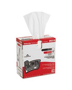 GPC29318 LIGHT WEIGHT HEF DISPOSABLE SHOP TOWELS, 9.1 X 16.7, WHITE, 148/BOX, 10/CARTON