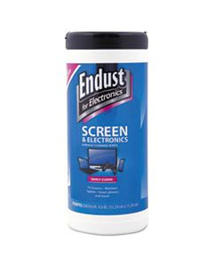 END11506 ANTISTATIC CLEANING WIPES, PREMOISTENED, 70/CANISTER