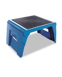 CRA50051PK63 FOLDING STEP STOOL, 1-STEP, 300 LB CAPACITY, 14W X 11.25D X 9.75H, BLUE