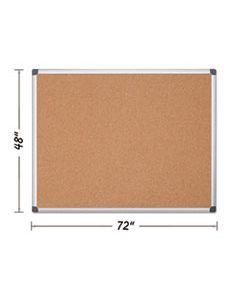 BVCCA271170 VALUE CORK BULLETIN BOARD WITH ALUMINUM FRAME, 48 X 72, NATURAL