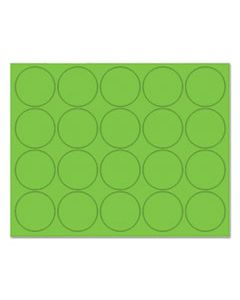 """BVCFM1602 INTERCHANGEABLE MAGNETIC BOARD ACCESSORIES, CIRCLES, GREEN, 3/4"""", 20/PACK"""