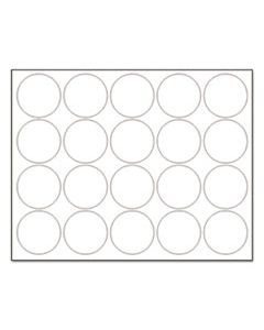 "BVCFM1618 INTERCHANGEABLE MAGNETIC BOARD ACCESSORIES, CIRCLES, WHITE, 3/4"", 20/PACK"