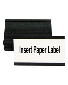 "BVCFM2630 MAGNETIC CARD HOLDERS, 3""W X 1 3/4""H, BLACK, 10/PACK"