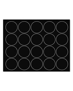 "BVCFM1605 INTERCHANGEABLE MAGNETIC BOARD ACCESSORIES, CIRCLES, BLACK, 3/4"", 20/PACK"
