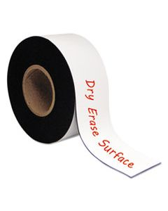 "BVCFM2218 DRY ERASE MAGNETIC TAPE ROLL, WHITE, 3"" X 50 FT."