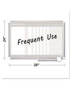 BVCGA01110830 IN-OUT MAGNETIC DRY ERASE BOARD, 36X24, SILVER FRAME