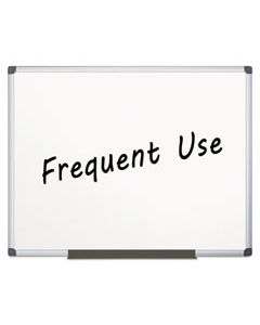 BVCMA2707170 VALUE LACQUERED STEEL MAGNETIC DRY ERASE BOARD, 48 X 72, WHITE, ALUMINUM FRAME