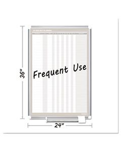 BVCGA02109830 IN-OUT MAGNETIC DRY ERASE BOARD, 24X36, SILVER FRAME