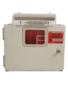 CVDSWMU000609 LOCKING WALL MOUNT SHARPS CABINET SYSTEM, 5 QT, BEIGE