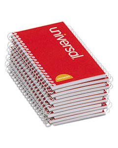 UNV20453 WIREBOUND MEMO BOOK, NARROW RULE, 5 X 3, WHITE, 50 SHEETS, 12/PACK