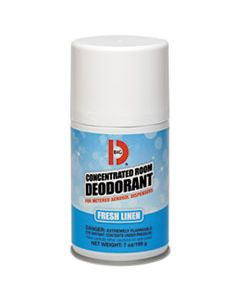 BGD472 METERED CONCENTRATED ROOM DEODORANT, FRESH LINEN SCENT, 7 OZ AEROSOL, 12/BOX