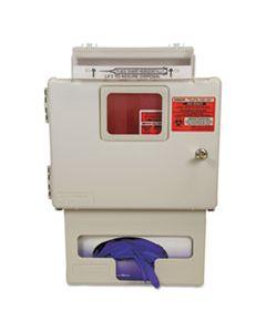 CVDSSGB00056H LOCKING WALL MOUNT SHARPS CABINET WITH GLOVE BOX HOLDER, 5 QT, BEIGE