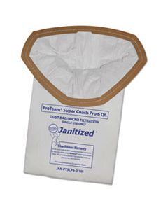APCJANPTSCP62 VACUUM FILTER BAGS DESIGNED TO FIT PROTEAM SUPER COACH PRO 6/GOFREE PRO, 100/CT