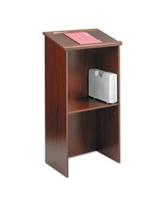 SAF8915MH STAND-UP LECTERN, 23W X 15.75D X 46H, MAHOGANY