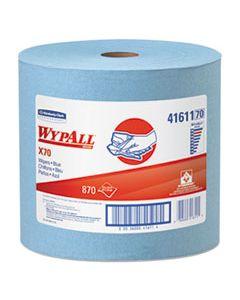 KCC41611 X70 CLOTHS, JUMBO ROLL, 12 1/2 X 13 2/5, BLUE, 870/ROLL