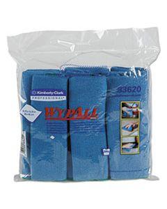 KCC83620CT MICROFIBER CLOTHS, REUSABLE, 15 3/4 X 15 3/4, BLUE, 24/CARTON