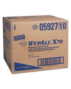 KCC05927 X70 FOODSERVICE TOWELS, 1/4 FOLD, 12 1/2 X 23 1/2, BLUE, 300/CARTON
