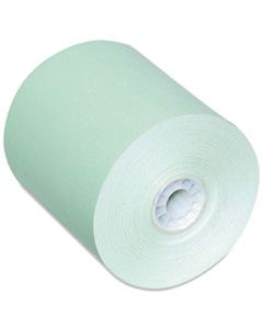 """PMC05214G DIRECT THERMAL PRINTING PAPER ROLLS, 0.45"""" CORE, 3.13"""" X 230 FT, GREEN, 50/CARTON"""