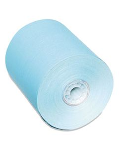"""PMC05214B DIRECT THERMAL PRINTING PAPER ROLLS, 0.45"""" CORE, 3.13"""" X 230 FT, BLUE, 50/CARTON"""
