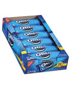 CDB00470 OREO COOKIES SINGLE SERVE PACKS, CHOCOLATE, 2.4OZ PACK, 6 COOKIES/PACK, 12PK/BX