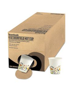 BWKDEER8HCUPOP CONVENIENCE PACK PAPER HOT CUPS, 8 OZ, DEERFIELD PRINT, 306/CARTON