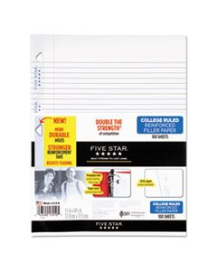 MEA17010 REINFORCED FILLER PAPER, 3-HOLE, 8.5 X 11, COLLEGE RULE, 100/PACK
