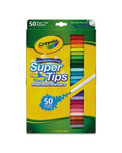 CYO585050 WASHABLE SUPER TIPS MARKERS, BROAD/FINE BULLET TIP, ASSORTED COLORS,