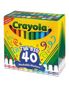 CYO587858 ULTRA-CLEAN WASHABLE MARKERS, BROAD BULLET TIP, ASSORTED COLORS, 40/SET