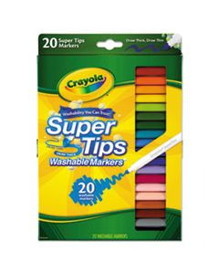 CYO588106 WASHABLE SUPER TIPS MARKERS, BROAD/FINE BULLET TIP, ASSORTED COLORS,