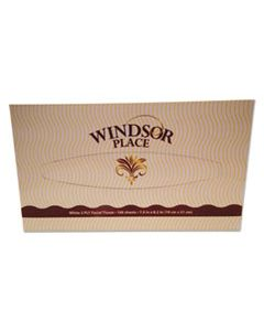 APM330 WINDSOR PLACE FACIAL TISSUE, 2-PLY, 100 SHEETS/BOX, 30 BOX/CARTON