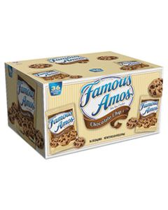 KEB10003 FAMOUS AMOS COOKIES, CHOCOLATE CHIP, 2 OZ SNACK PACK, 36/CARTON