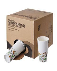 BWKDEER20HCUPOP CONVENIENCE PACK PAPER HOT CUPS, 20 OZ, DEERFIELD PRINT, 135/CARTON