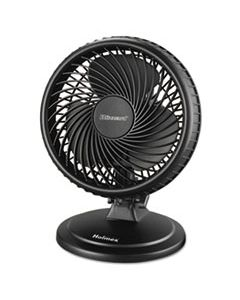 "HLSHAOF87BLZNUC LIL' BLIZZARD 7"" TWO-SPEED OSCILLATING PERSONAL TABLE FAN, PLASTIC, BLACK"