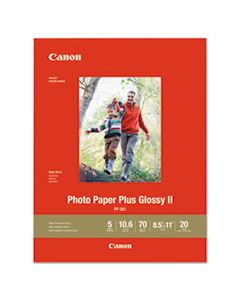 CNM1432C003 PHOTO PAPER PLUS GLOSSY II, 8.5 X 11, GLOSSY WHITE, 20/PACK