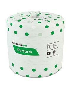 CSDB340 PERFORM STANDARD BATHROOM TISSUE, SEPTIC SAFE, 2-PLY, WHITE, 4 X 3 1/2, 336 SHEETS/ROLL, 48 ROLLS/CARTON