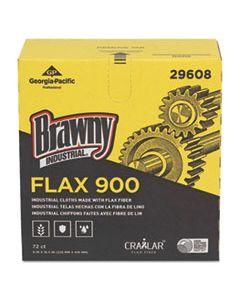 GPC29608 FLAX 900 HEAVY DUTY CLOTHS, 9 X 16 1/2, WHITE, 72/BOX, 10 BOX/CARTON