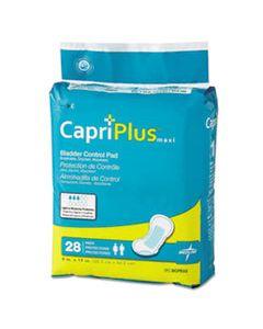 "MIIBCPE03 CAPRI PLUS BLADDER CONTROL PADS, ULTRA PLUS, 8"" X 17"", 28/PACK"
