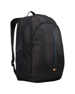 "CLG3203405 PREVAILER 17"" LAPTOP BACKPACK, 12 1/2 X 12 1/4 X 18, BLACK WITH BLUE ACCENT"
