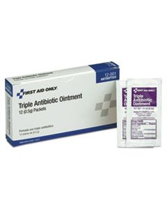 FAO12001 FIRST AID KIT REFILL TRIPLE ANTIBIOTIC OINTMENT, 12/BOX