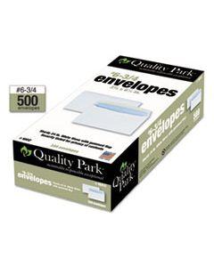 QUA10412 BUSINESS ENVELOPE, #6 3/4, COMMERCIAL FLAP, GUMMED CLOSURE, 3.63 X 6.5, WHITE, 500/BOX